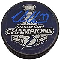 $89 » Victor Hedman Tampa Bay Lightning signed 2020 Stanley Cup Champs puck