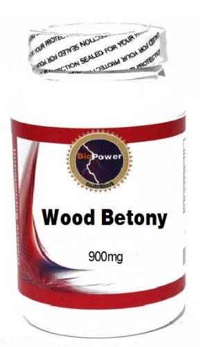 Древесина Betony 900 мг 100 капсул # BioPower Питание