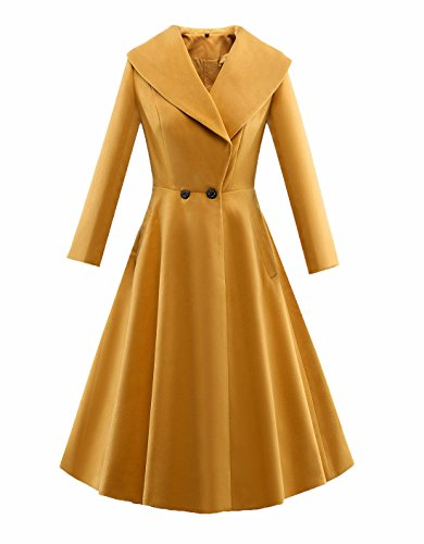 Ez-sofei-Womens-Vintage-Double-Breasted-Rockabilly-Trench-Coat-Dresses