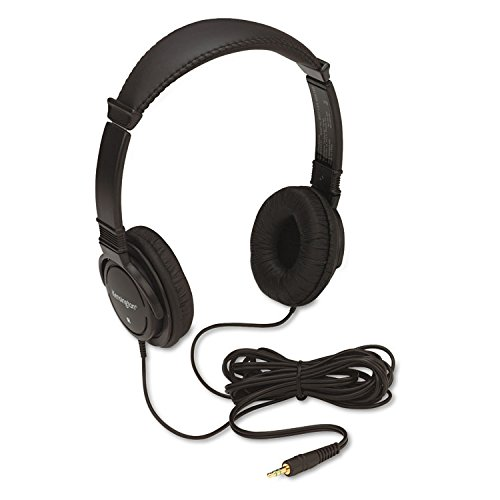 Kensington Hi-fi Stereo Headphone - Black - Wired - 32 Ohm - 20 Hz 20 kHz - Gold Plated - Binaural - Ear-cup - 9 ft Cable