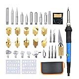 SUPVOX Kit de Quemador de Madera con Kit de Soldadura de 37 Piezas Kit de Pluma de Pyrografía con Quema de Madera para Pirograbado con Enchufe de EE. UU.