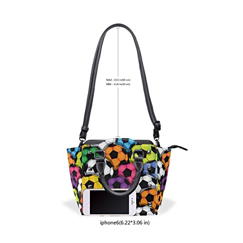 Top Bags Soccer Handle Leather Shoulder Handbags TIZORAX Colorful Women's PU TzxYqa