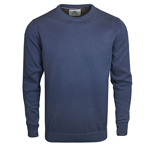 Guide London Herren Pullover blau denim