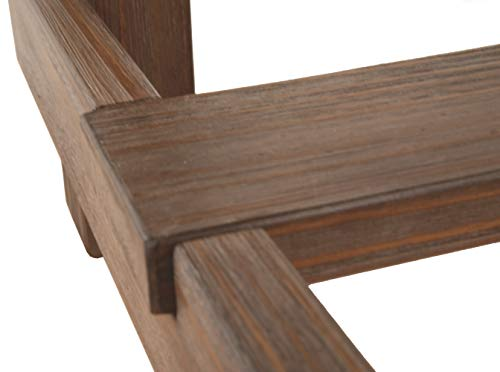 Ashley Furniture Signature Design - Pinnadel Counter Dining Table - Weathered Brown Finish w/ Gray Undertones by Signature Design by Ashley (Image #5)