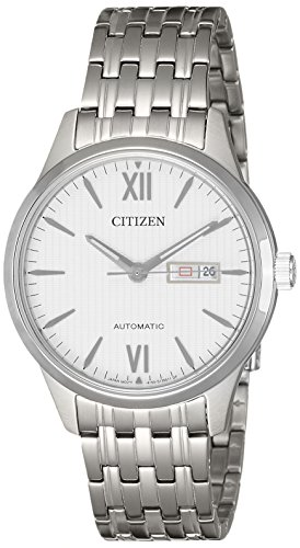 Citizen Automatic White Dial Stainless Steel Men's Watch NP4070-53A
