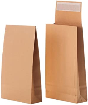 10 Faltentaschen  DIN B4 braun 4cm Versandtaschen 250 mm x 353 mm x 40mm Neu