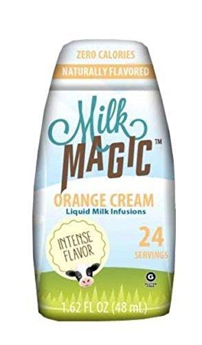 Milk Magic, Liquid Milk Infusions, Flavor Enhancers, 48 Servings (Pack of 2) (Orange Cream) ()