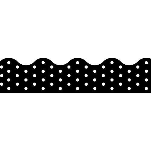 TREND enterprises, Inc. Polka Dots Black Terrific Trimmers, 39 ft
