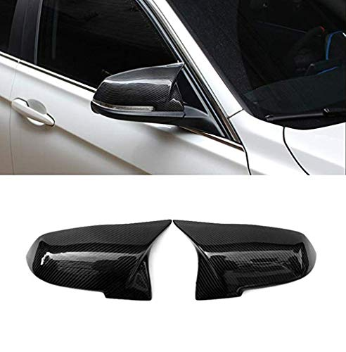 Zonsoon Carbon Fiber Replacement Side Mirror Cover Caps fits BMW 3 Series F30 F34 1 Series F20 2 Series F22 4 Series F32 F33 F36 F87(M2) X1 Series E84 2013-2015