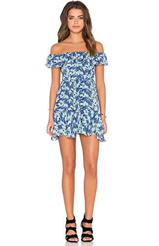 LOVESHACKFANCY Women's Blue Izzy Mini Dress Size XS ()
