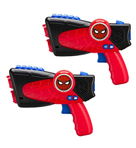 (Spiderman Far from Home Laser-Tag for Kids Infared Lazer-Tag Blasters Lights Up & Vibrates When Hit)