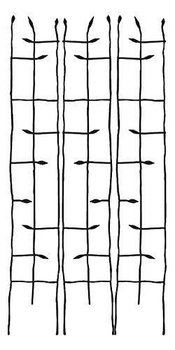 BestNest Panacea Black Forged Narrow Twig Trellises, 72'' H, Pack of 3