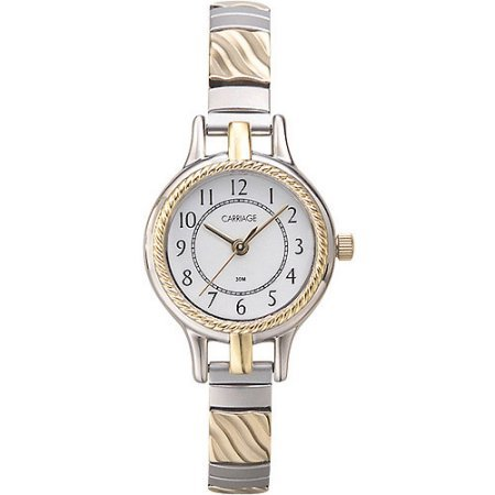 Carriage by Timex Women's Demi Watch, Two-Tone Stainless Steel Expansion Band (Polished Carriage)