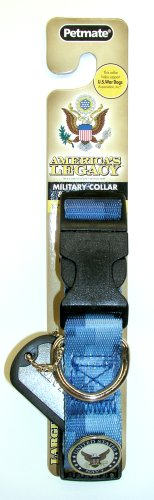 America's Legacy Camo Collar, Blue Navy, 1-Inch By 16-26-Inch
