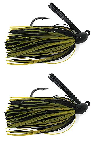 (Reaction Tackle Swim Jigs 1/4 oz Green Pumpkin/Black )