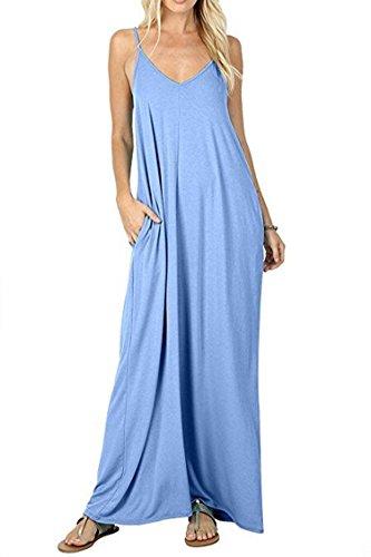 ily Wear Silk Smooth Soft Cozy Rayon Maxi Dress M Mint Blue ()