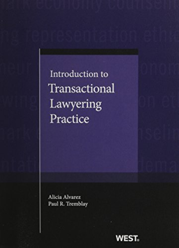 Book cover from Introduction to Transactional Lawyering Practice (Coursebook) by Alicia Alvarez