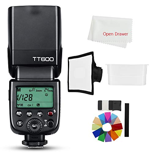 Godox TT600 2.4G Wireless Master Slave Camera Flash Speedlite Built in Godox X System Receiver Compatible Compatible Canon Nikon Sony Olympus Fujifilm Pentax Camera + Diffuser