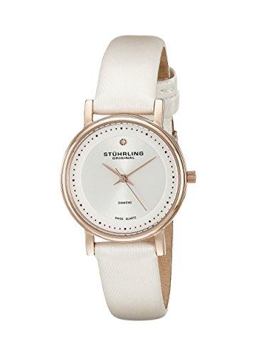 Stuhrling Original Women's 734L.04 Classic Ascot Castorra 16K Rose Gold Diamond-Accented - Chronograph 16 Diamond Watch