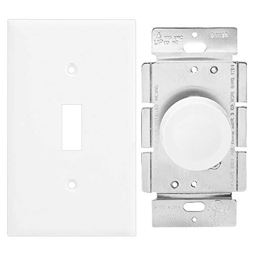 Enerlites 8811-W-10PCS Toggle Wall Plate, Standard Size 1-Gang, Unbreakable Polycarbonate, White (10 Pack) by ENERLITES (Image #2)