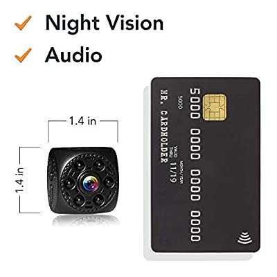Mini Spy Camera Timeqid | WiFi Portable Hidden Wireless Spy Camera Audio Night Vision 170° Wide Angle Long Battery Rechargeable Motion Detection HD Video by Timeqid