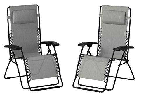Caravan Sports Infinity Zero Gravity Chair - 2 Pack, Grey