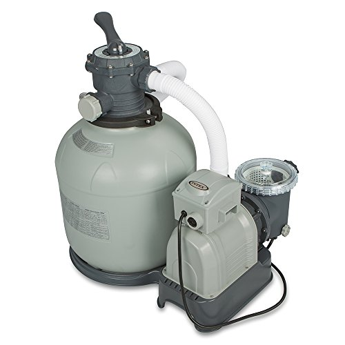 Intex Krystal Clear Sand Filter Pump for Above Ground Pools, 16-inch, 110-120V with (Ground Pool Sand Filter System)