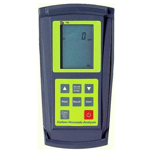 TPI 708 Combustion Efficiency Analyzer with Flue Probe, 3 x 1.5V AA Alkaline Batteries, Backlit LCD Display, 14 to 122 Degree (Combustion Efficiency)