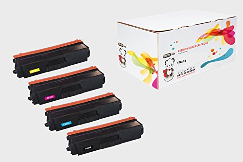 YoYoink 4 Pack Compatible Toner Cartridge Replacement for Brother TN336 HIGH YIELD B/C/M/Y (1 Black, 1 Cyan, 1 Magenta, 1 Yellow) - MFC-L8850CDW MFC-L8600CDW HL-L8350CDW (Brother Replacement Copier Cartridge)