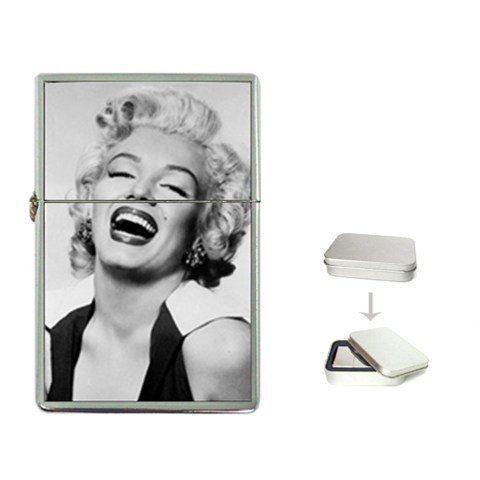 New Product MARILYN MONROE THE LAUGHING LADY Flip Top Cigarette Lighter + free Case Box
