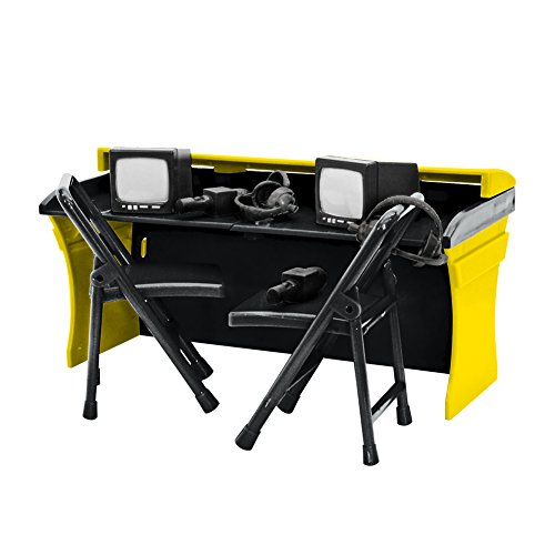 Black & Yellow Commentator Table Playset for WWE Wrestling Action Figures (Announcers Table Wwe)
