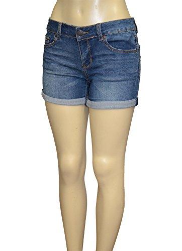 Alfa Global Junior's Ultra Soft Double Button Denim Short (13, Light Denim) (Jean Shorts For Teens)