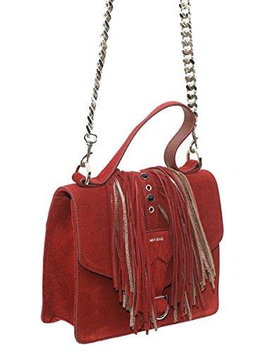 Mia Bag Mini Bag con Frange e Occhielli