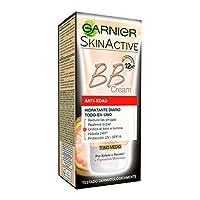 Garnier Skin Active BB Cream Anti-Edad Crema Correctora Anti-Imperfecciones para Piel Madura, Tono Medio SPF15 con Vitamina C – 50 ml