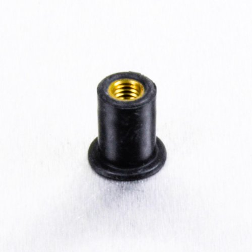 M5 x (0.8mm) Rubber Nut with Brass Insert