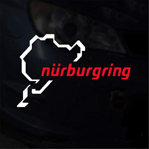 (MAMaiuh The Racing Track Nurburgring Car Stickers Creative Decoration Decal Car Window Tail Door Sticker)