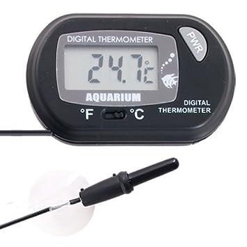 OPEN BUY Termometro Digital para Acuario pecera terrario con Ventosa: Amazon.es: Electrónica