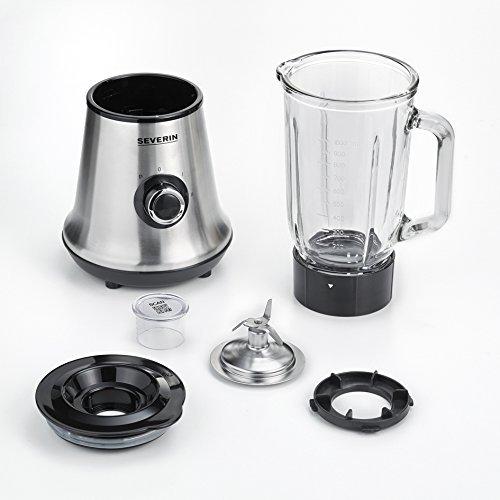 Severin SM 3734 Batidora de vaso con recipiente de cristal, 1 l, 500 W aprox., Acero Inoxidable/Negro: Amazon.es: Hogar