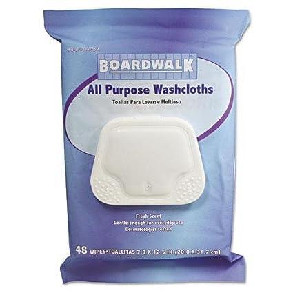 BoardWalk 359WPK Premoistened Personal Washcloths, 12 1/2 x 7 9/10,