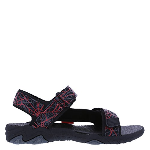 Picture of Ultimate Spider-Man Boys' Red Black Boys' Web Double-Strap Sandal 13 Regular
