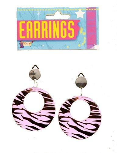 Forum Novelties Earrings Zebra White