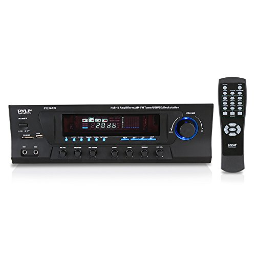 - 300W Digital Stereo Receiver System - AM/FM Qtz. Synthesized Tuner, USB/SD Card MP3 Player & Subwoofer Control, A/B Speaker, iPod/MP3 Input w/ Karaoke, Cable & Remote Sensor - PyleHome PT270AIU