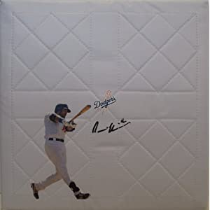 Andre Ethier Autographed Hand Signed Los Angeles Dodgers Full Size Photo Baseball Base with Proof Photo of Signing and COA LA Dodgers Collectibles