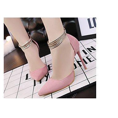 RUGAI-UE Moda de Verano Mujer sandalias casuales zapatos de tacones PU Confort pasear al aire libre,verde,US5.5 / UE36 / UK3.5 / CN35 Blushing Pink