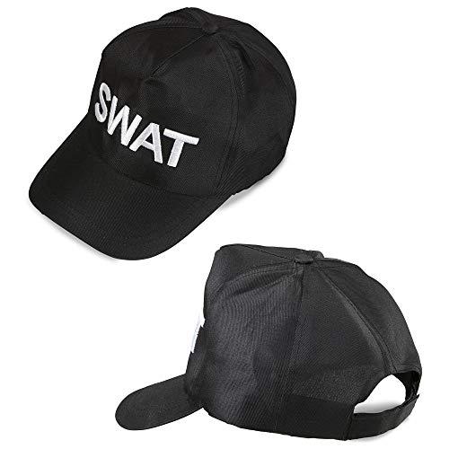 widmann 03607SWAT Adjustable Cap-Black