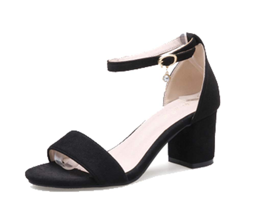 Femaroly Sandales , Black(heel Sandales pour Femme 6cm) Black(heel 6cm) 2f96875 - gis9ma7le.space