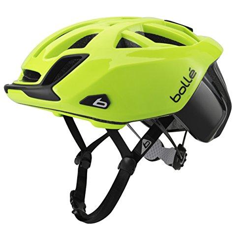 Bolleザワンロードスタンダードヘルメット、54-58cm、ネオンイエロー   B01AOFS06G
