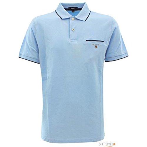 Gant Polo Piqué Bolsillo Azul Claro - Color - Azul, Talla - XL ...
