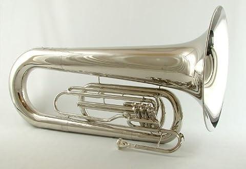 Schiller Field Series Big Bell BBb Marching Tuba - Nickel - Bb Tuba