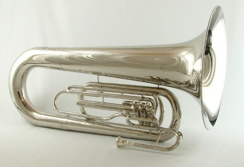 Schiller Field Series Big Bell BBb Marching Tuba - Nickel by Schiller